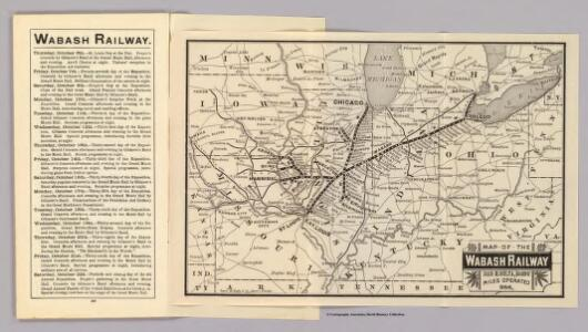 Map Wabash Railway.