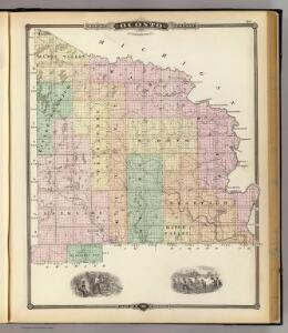 Map of Oconto County (northern part), State of Wisconsin.