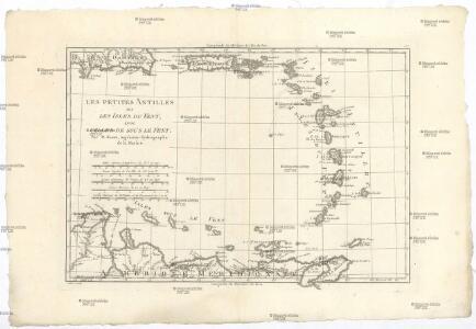 Les Petites Antilles ou les Isles du Vent avec celles de Sous le Vent