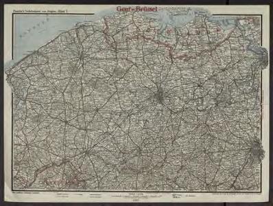 Paasche's Verkehrskarte von Belgien. Blatt 1, Gent-Brussel