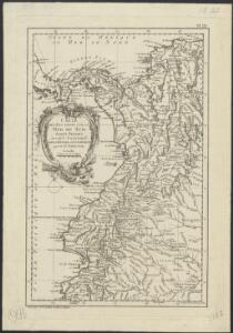 Carte des pays situés sur la Mer du Sud, depuis Panama jusqu'à Guayaquil