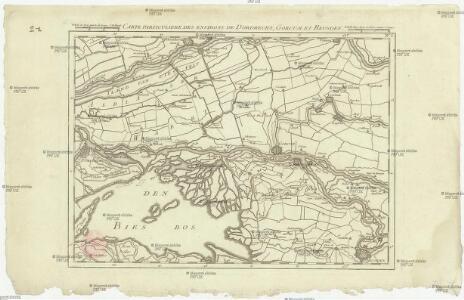 Carte particuliere des environs de Dordrecht, Gorcum et Heusden