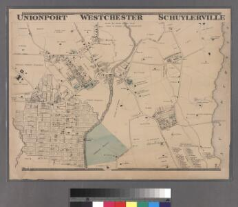 Plate 16: Unionport - Westchester - Schuyerville :Town & County of Westchester, N.Y.