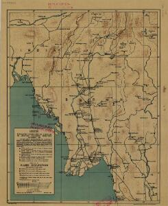 Burma, Andaman & Nicobar Is., Sumatra and Thailand showing the airfields in Japanese occupied territory[a series of maps of] (1944)