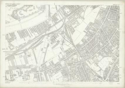 London (First Editions c1850s) LXV (includes: Battersea; Lambeth St Mary; Wandsworth Borough) - 25 Inch Map