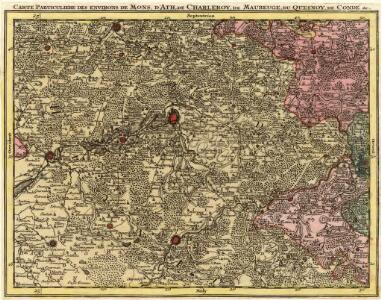 Carte Particuliere des Environs de Mons, D'Ath, de Charleroy, de Maubeuge, du Quesnoy, de Condé &c.