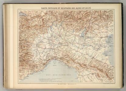 Carte Physique et Militaire des Alpes et du Po.