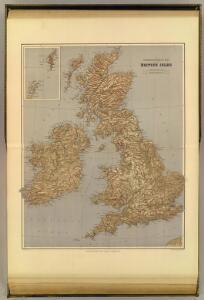 Stereographical map, British Isles.
