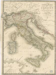 General Karte von Italien und Dalmatien