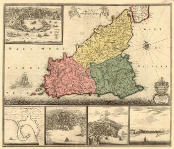 Insula sive Regnum Siciliae Urbibus praecipuis exornatum et novissime editum