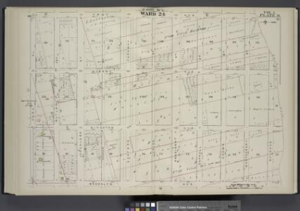 Vol. 1. Plate, O. [Map bound by Troy Ave., City Line, Brooklyn Ave., Park PL; Including Albany Ave., Kingston Ave., Butler St., Douglass St., Degraw St., Eastern Parkway, Union St., President St., Carroll St., Crown St., Montgomery St., Marion St.]