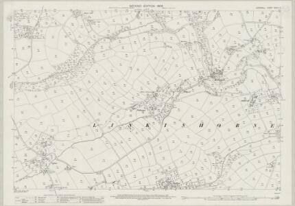Cornwall XXVIII.3 (includes: Linkinhorne) - 25 Inch Map