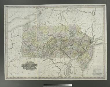 A map of the canals & rail roads of Pennsylvania and New Jersey and the adjoining states / by H. S. Tanner; engraved by H.S. Tanner & assistants.