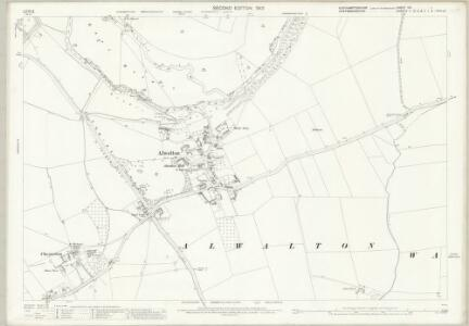 Northamptonshire XIV.1 (includes: Alwalton; Castor; Chesterton; Orton Waterville) - 25 Inch Map