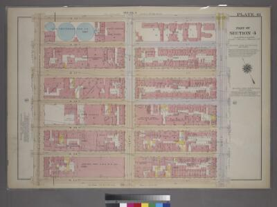 Plate 41, Part of Section 4: [Bounded by W. 59th Street, Ninth Avenue, W. 53rd Street and Eleventh Avenue.]