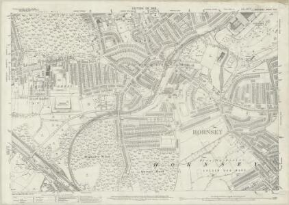 Middlesex XII.5 (includes: Hornsey St Mary) - 25 Inch Map