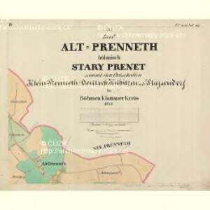 Alt Preneth - c7314-2-003 - Kaiserpflichtexemplar der Landkarten des stabilen Katasters