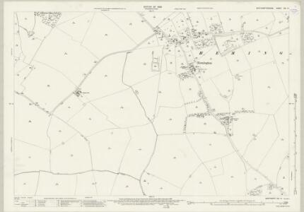 Northamptonshire XIX.15 (includes: Barnwell; Hemington; Luddington; Polebrook; Thurning) - 25 Inch Map