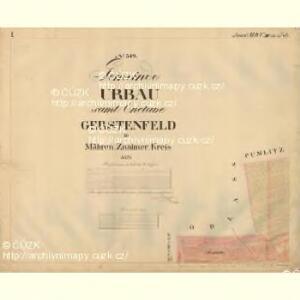 Urbau - m3488-1-001 - Kaiserpflichtexemplar der Landkarten des stabilen Katasters
