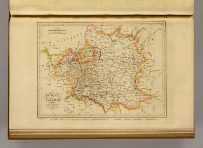 Carte historique de la Pologne.