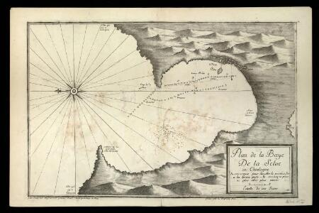 Plan de la baye de la Selue en Catalogne / par Jacques Ayrouard pilote real ; graué par H. Coussin a Aix