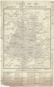 Carte de la foret de Fontainebleau