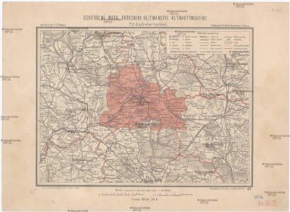 Generální mapa okresního hejtmanství Vltavotýnského