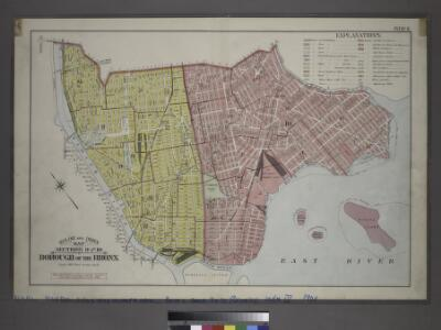 Outline and Index Map, Sections 9 and 10, Borough of the Bronx.