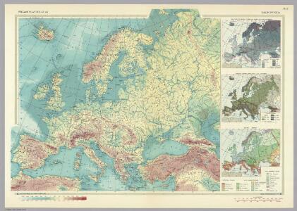 Europe - Physical.  Pergamon World Atlas.