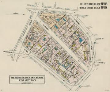 Elliott Bros'. Block No.115; Herald Office Block No.118, 15.9.22 (col)
