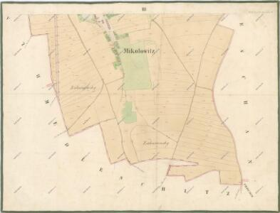 Indikacni Skica Mapy Stabilniho Katastru Pro Obec Mikulovice Iii