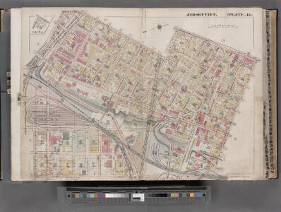 Jersey City, V. 1, Double Page Plate No. 10 [Map bounded by Central Ave., Franklin St., Jersey Ave., 12th St., Washborn St., Oakland Ave.] / compiled under the direction of and published by G.M. Hopkins Co.