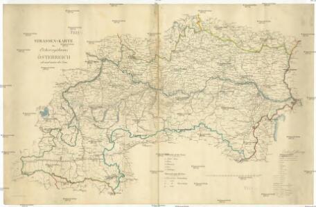 Strassen Karte des Ezrherzogthums Österreich