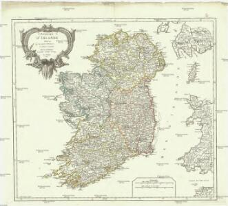 Royaume d'Irlande divisé en ses quatre provinces, et subdivisé en comtés