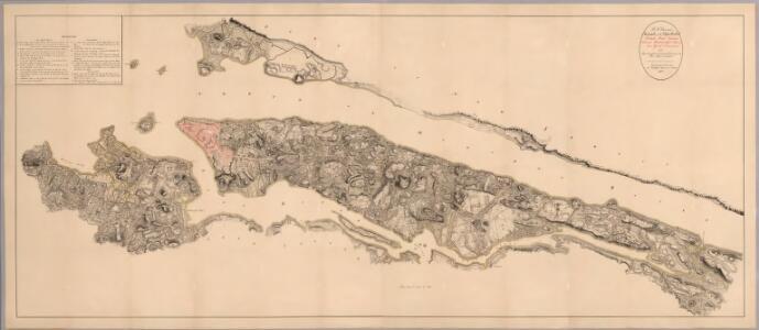 Composite: Steven's facsimile of British head quarters manuscript map of New York