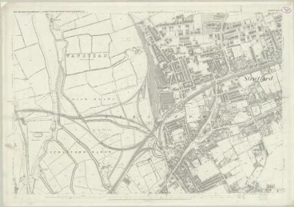 London (First Editions c1850s) XX (includes: Cann Hall; West Ham) - 25 Inch Map