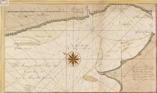 Het incoomen van de rivier van Gambia aen de kust van Gunea