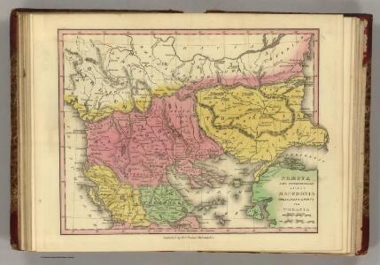 Graecia Pars Septentrionalis aliter Macedonia, Thessalia & Epirus cum Tracia.  (1826)