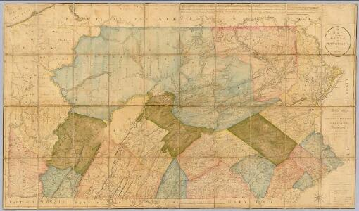 A Map Of The State Of Pennsylvania.