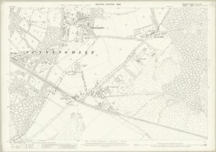 Berkshire XLVIII.1 & 5 (includes: Chobham; Egham; Sunningdale; Sunninghill; Windlesham) - 25 Inch Map