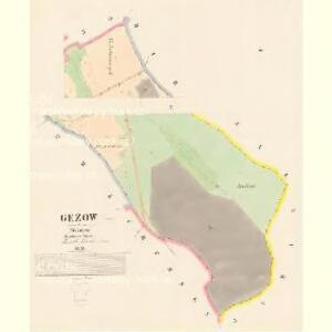 Gežow - c2888-1-001 - Kaiserpflichtexemplar der Landkarten des stabilen Katasters