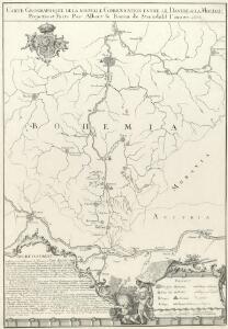 Carte Geographique de la nouvelle Communication entre le Danube &. la Moldau