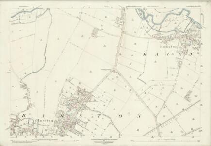 Cambridgeshire LIV.1 (includes: Great Shelford; Harston; Haslingfield; Hauxton) - 25 Inch Map