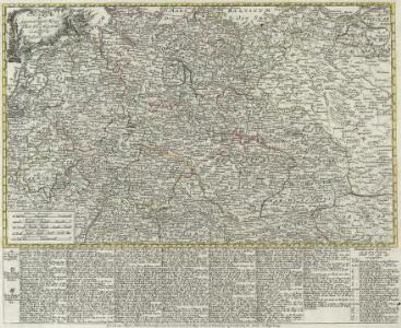 Charte des gegenwärtigen Kriegs in Teutschland ou la Guerre presente