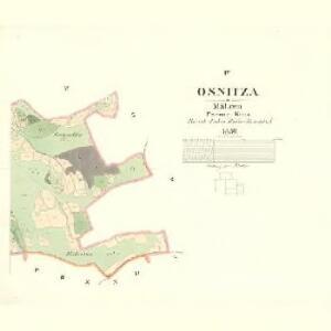 Osnitza - m2209-1-004 - Kaiserpflichtexemplar der Landkarten des stabilen Katasters