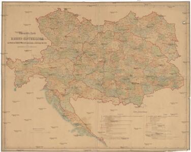 Uibersichts-Karte der Rayons-Eintheilung der Landwehren so wie der Heeres-Ergänzungs und Stellungs-Bezirke in der Oesterreich-Ungar. Monarchie