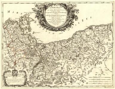 La Pomerania divisa in Citeriore, o Reale che spetta alla Corona di Suezia et in Vlteriore , o Ducale che appartiene all ́Elettore di Brandeburgo e Subdiuisa nelle Parti Principali, che la compognono
