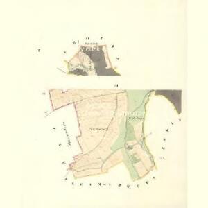 Klein Pientschitz (Maly Piencicky) - m2253-1-002 - Kaiserpflichtexemplar der Landkarten des stabilen Katasters