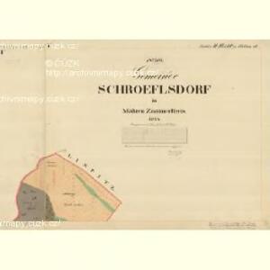 Schroeflsdorf - m3553-3-001 - Kaiserpflichtexemplar der Landkarten des stabilen Katasters