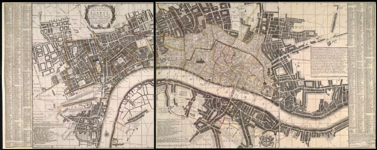 A New and Exact Plan of Ye City of London and suburbs thereof, 1731 93